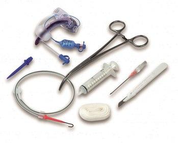 Наборы для трахеостомии по методике Григгса™ с санацией BLUE LINE ULTRA с зажимом